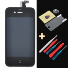 "Replacement 3.5"" Touch Screen Digitizer LCD w/ Maintenance Tool + Protector for iPhone 4S - Black"