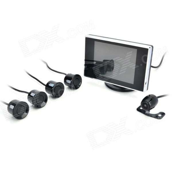 "PZ602-B 3.5"" TFT Rearview Mirror + Camera + Parking Sensor / Radar Kit (12V) Thornton товары б.у"