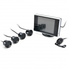 "PZ602-B 3.5"" TFT Rearview Mirror + Camera + Parking Sensor / Radar Kit (12V)"