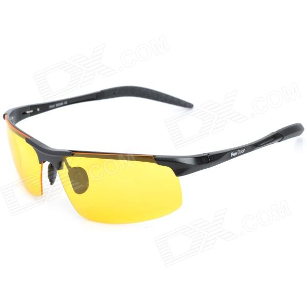 ReeDoon R8177 Men's Outdoor UV400 Protection Resin Lens Polarized Night Viewing Sunglasses - Yellow carshiro 9150 uv400 protection resin lens polarized night vision driving glasses