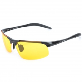 ReeDoon R8177 Men's UV400 Protection Night Viewing Sunglasses - Yellow