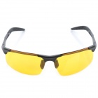 ReeDoon R8177 Men's Outdoor UV400 Protection Resin Lens Polarized Night Viewing Sunglasses - Yellow