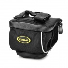 KUGAI 13023 Cycling Bicycle Nylon Waist / Handlebar / Saddle Seat Tail Bag w/ Rain Cover - Black