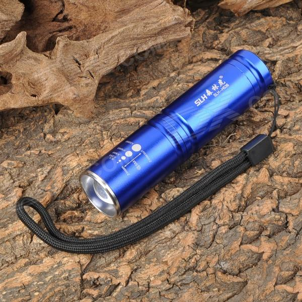 ForestTiger SLH-H536 200lm 3-Mode White Zooming Flashlight w/ Cree XP-E R2 - Deep Blue (1 x 14500) slh h602 1w led 100lm 1 mode white flashlight silver red 2 x aa