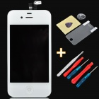 "Replacement 3.5"" Touch Screen Digitizer LCD w/ Maintenance Tool + Protector for iPhone 4S - White"