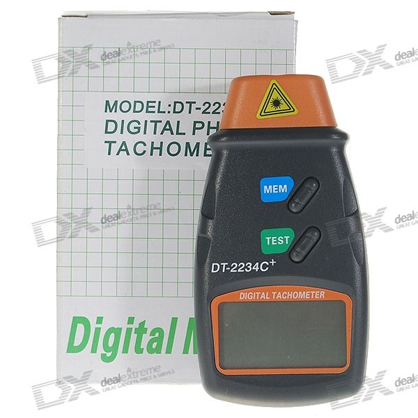 Digital Laser Tachometer with Pouch (2.5~99999.9RPM Range / 0.1RPM Resolution)