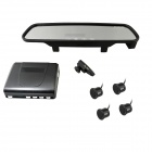 PZ802-PW Bluetooth Handsfree Rearview Mirror + Wireless Parking Sensor / Radar Kit (DC 12V)