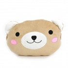 Cute Bear Style Car Sofa Cushion Head Neck Pillow - Brown