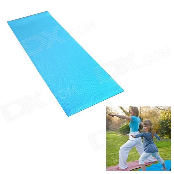 HS-HP1216 PVC Yoga and Exercise Mat/Pad - BlueYoga<br>ModelHS-HP1216Quantity1ColorBlueMaterialPVCFunctionsElastic; With a layer of anti-pull cotton cloth, it is difficult to be tore up; Square pattern makes mat w/ great anti-slip performanceBest useYogaPacking List1 x Yoga mat<br>
