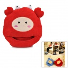 YiPinTang LJW-026 Crab Style USB Power Coral Fleece Foot Warmer Shoe - Red + Grey