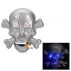 Voice Control Electric Skull Chain Smoker w/ Flash / Ghost Cry w/ Bracket - Grey (3 X AA)