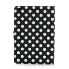 Polka Dot Pattern Protective Flip Open PU Leather Case for iPad Mini - Black