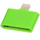 8-pin Male to 30-pin Female Lightning Adapter for iPad Mini / iPhone 5 / iPod Touch 5 + More - Green