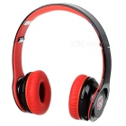 Syllable G15-001 Folding Design Wireless Bluetooth V2.0 Stereo Headphones w/ Mic - Black + Red