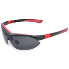 KaShiLuo 9291 Men's Bicycle Riding Polarized UV400 Protection Sunglasses - Black + Red