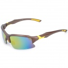 KaShiLuo XB-129 Riding winddicht UV400 Schutzbrillen Sonnenbrille - Coffee