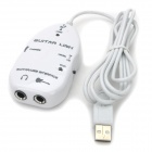 (VR) Guitar to USB Interface Link Cable for PC / Mac Recording - White