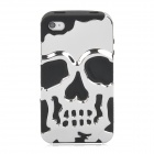 2-in-1 Skull Style Protective Detachable Back Case for Iphone 4 / 4S - Black + Silver