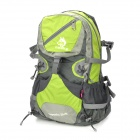 Hasky CY-2052 Camping Mountaineering Riding Backpack Bag w/ Rain Cover - Green + Grey (25L)