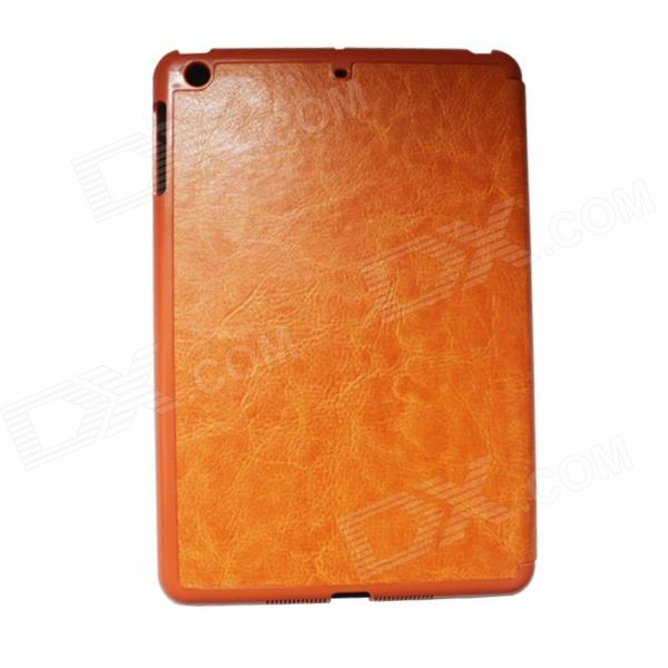 Flip-Open Style Protective PU Leather Case for Ipad MINI - Orange jiayu flip open protective pu leather case cover for g2f orange