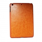 Flip-Open Style Protective PU Leather Case for Ipad MINI - Orange
