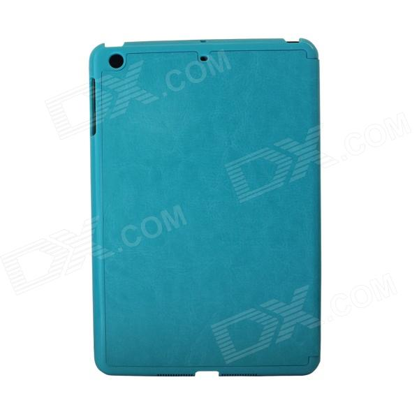 Flip-Open Style Protective PU Leather Case for Ipad MINI - Blue