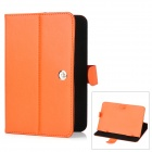 "Universal Protective PU Leather Case for 7"" Tablet PC - Orange"
