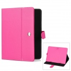 Protective PU Leather Case for 9.7'' Tablet PC - Deep Pink