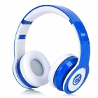 Syllable G08-003 Folding Design Wireless Bluetooth V2.0 Stereo Headphones w/ Mic - Blue + White