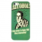 ALCOHOL Protective Plastic Back Case for Iphone 5 - Green