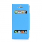 Stylish Protective PU Leather Case for Iphone 5 - Sky Blue