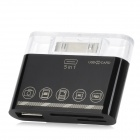 DL-S303 5-in-1 Card Reader + Camera Connection Kit for Samsung Tablet P7500 / P7300 + More - Black