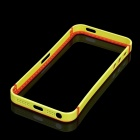 Protective Rubber Bumper Frame for Iphone 5 - Yellow + Orange