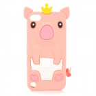 3D Pig Style Ultra-Slim Silicone Back Case for Ipod Touch 5 - Pink