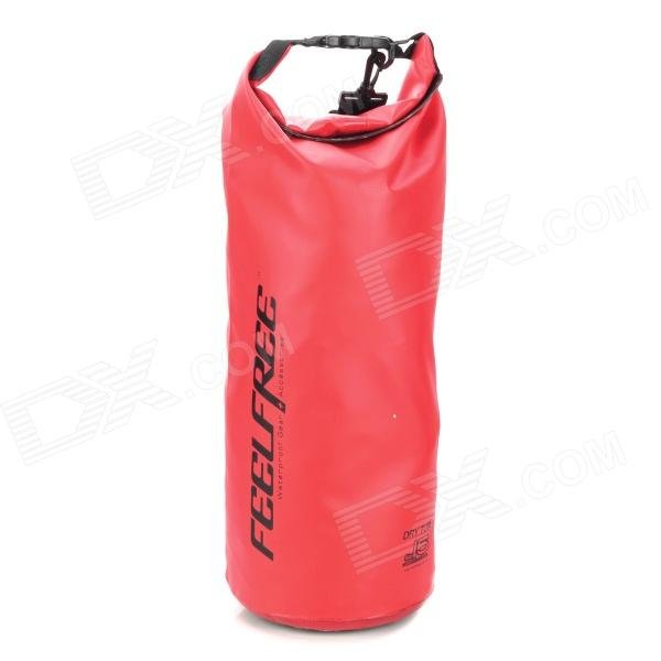 XQQ-FJ-39 FEELFREE XQQ-FJ-39 Waterproof PVC Dry Tube Bag w/ Strap - Red (15L) гермомешок overboard cityscape waterproof dry tube us1005y