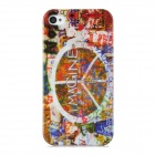 IMAGINE Retro Style Protective Plastic Back Case for Iphone 4 / 4S - Multicolored