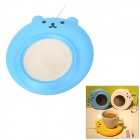 YiPinTang LJW-033 Bear Style USB Power 3W Cup Warmer Pad - Blue + Silver