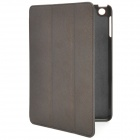 Flip-Open Style Protective PU Leather Case for iPad Mini - Dark Coffee