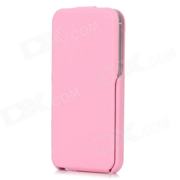 Protective PU Leather Top Flip-Open Case for Iphone 5 - Light Pink protective flip open pu leather case for iphone 4 4s pink