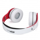 Syllable G08-002 Folding Design Wireless Bluetooth V2.0 Stereo Headphones w/ Mic - White + Red