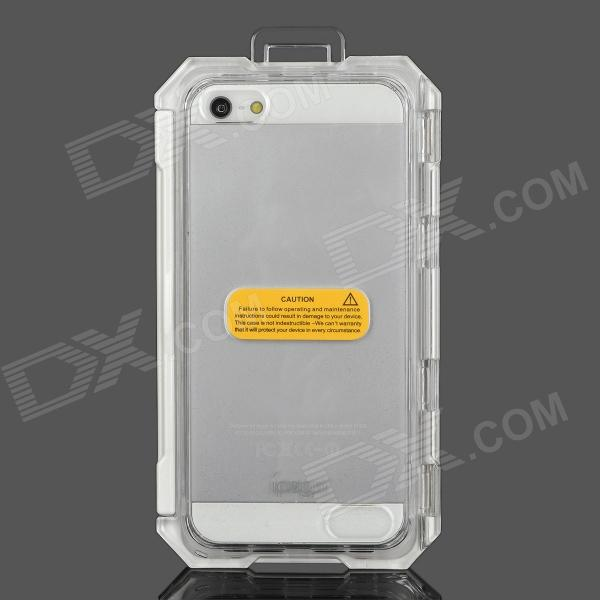 High Quality Plastic Water Resistant Case for Iphone 5 - White