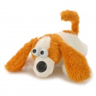 Electric Acoustic Control Plush Laughing Dog Toy - Brown + White (3 x AA)