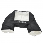 Portable Windproof Warm Glove Cover for Remote Controller - Black + Silver