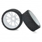 1:8 Remote Control Off-Road Car / Truck Rubber Tires - Black + White (2 PCS)