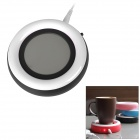 YiPinTang LJW-032 Rainbow Style USB Power 3W Cup Warmer Pad - Black + White