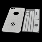 Protective Glitter Front + Back + Frame Skin Sticker for iPhone 5 - Silver