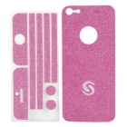 Protective Sparkling Diamond Skin Sticker w/ Screen Protector Film Guard for Iphone 5 - Deep Pink
