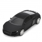 "A8 Mini Car Shape Rechargeable 0.8"" LCD Speaker w/ TF / USB / FM Radio - Black"