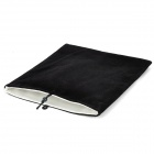 "Universal 9.7"" Double-Layer Flannel Bag Pouch for 9.7"" Tablet PC - Black"