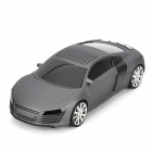 "A8 Mini Car Shape Rechargeable 0.8"" LCD Speaker w/ TF / USB / FM Radio - Dark Grey + Black"